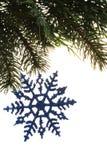 snowflake διακοσμήσεων Στοκ εικόνες με δικαίωμα ελεύθερης χρήσης
