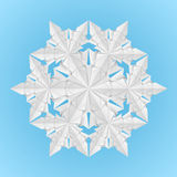 snowflake εγγράφου λευκό διανυσματική απεικόνιση