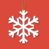 Snowflake εγγράφου Στοκ φωτογραφίες με δικαίωμα ελεύθερης χρήσης