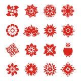 Snowflake εικονίδια Στοκ Εικόνα