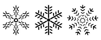 Snowflake εικονίδια Στοκ εικόνα με δικαίωμα ελεύθερης χρήσης