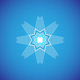 Snowflake εικονίδιο γραφικό Snowflake διανύσματα Στοκ Φωτογραφία