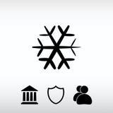 Snowflake εικονίδιο, διανυσματική απεικόνιση Επίπεδο ύφος σχεδίου Στοκ φωτογραφία με δικαίωμα ελεύθερης χρήσης
