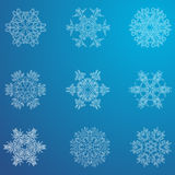 Snowflake εικονίδιο όπως η ανασκόπηση είναι μπορεί χρησιμοποιημένος θέμα χειμώνας απεικόνισης Χειμερινά snowflakes των διαφορετικ Στοκ εικόνες με δικαίωμα ελεύθερης χρήσης