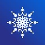 Snowflake ενιαίο εικονίδιο στην μπλε διανυσματική απεικόνιση ελεύθερη απεικόνιση δικαιώματος