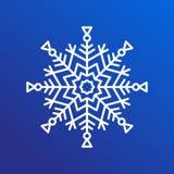 Snowflake ενιαίο εικονίδιο στην μπλε διανυσματική απεικόνιση απεικόνιση αποθεμάτων