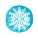 Snowflake ευχετήρια κάρτα Στοκ εικόνα με δικαίωμα ελεύθερης χρήσης