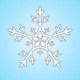 Snowflake διάνυσμα clipart Στοκ Φωτογραφία