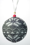 Snowflake διακοσμήσεων Χριστουγέννων σφαίρα πουλόβερ Στοκ Φωτογραφία