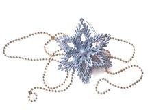 Snowflake διακοσμήσεων Χριστουγέννων Στοκ φωτογραφίες με δικαίωμα ελεύθερης χρήσης