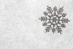Snowflake διακοσμήσεων Χριστουγέννων Στοκ Εικόνα