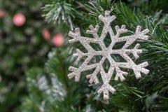 Snowflake διακόσμηση Χριστουγέννων Στοκ φωτογραφία με δικαίωμα ελεύθερης χρήσης