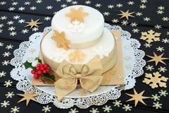 Snowflake κέικ Χριστουγέννων Στοκ φωτογραφία με δικαίωμα ελεύθερης χρήσης