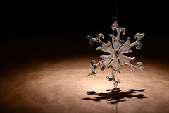 Snowflake καρτών Στοκ Φωτογραφία