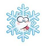 Snowflake κεφάλι - γλώσσα Στοκ εικόνα με δικαίωμα ελεύθερης χρήσης