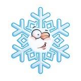 Snowflake κεφάλι - που κλείνει το μάτι Στοκ Εικόνα