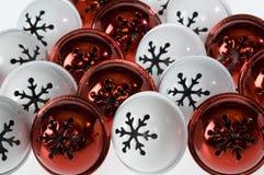 snowflake κουδουνιών ανασκόπηση Στοκ φωτογραφία με δικαίωμα ελεύθερης χρήσης
