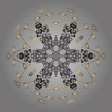 Snowflake κρυστάλλου στα χρυσά χρώματα ελεύθερη απεικόνιση δικαιώματος