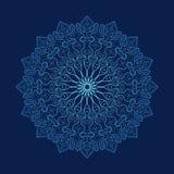 Snowflake, κυκλική διακόσμηση, mandala Στοκ Εικόνα