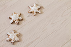 Snowflake μελοψωμάτων Στοκ Εικόνες