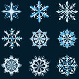 Snowflake μορφές Στοκ εικόνα με δικαίωμα ελεύθερης χρήσης