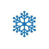 Snowflake μπλε εικονίδιο Στοκ Εικόνες