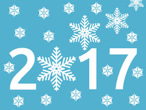 Snowflake, νέο έτος 2017 απεικόνιση αποθεμάτων