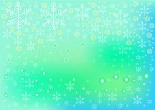 Snowflake ομάδα και κύκλος στο πράσινο υπόβαθρο χρώματος Στοκ εικόνα με δικαίωμα ελεύθερης χρήσης