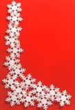 snowflake πλαισίου Χριστουγένν&omega Στοκ φωτογραφία με δικαίωμα ελεύθερης χρήσης