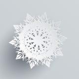 Snowflake που απομονώνεται στο ασήμι Ρεαλιστική νιφάδα διανυσματική απεικόνιση
