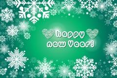 Snowflake πράσινο υπόβαθρο χρώματος - απεικόνιση eps10 ελεύθερη απεικόνιση δικαιώματος