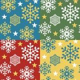 snowflake προτύπων 4 colorways Στοκ Εικόνα