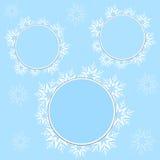 Snowflake πλαίσια Στοκ εικόνα με δικαίωμα ελεύθερης χρήσης
