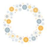 Snowflake πλαίσιο ελεύθερη απεικόνιση δικαιώματος