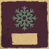 Snowflake σε ένα υπόβαθρο grunge. Στοκ φωτογραφία με δικαίωμα ελεύθερης χρήσης