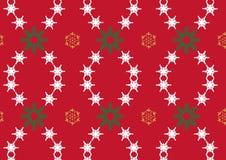 Snowflake στην κόκκινη ανασκόπηση Στοκ φωτογραφία με δικαίωμα ελεύθερης χρήσης