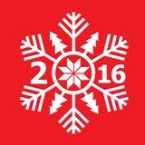 snowflake στο κόκκινο υπόβαθρο Στοκ φωτογραφίες με δικαίωμα ελεύθερης χρήσης