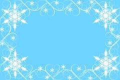 snowflake συνόρων ανασκόπησης μπλ&ep Στοκ Εικόνες