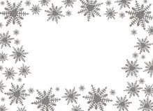 snowflake συνόρων Στοκ εικόνα με δικαίωμα ελεύθερης χρήσης