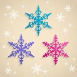Snowflake σχεδίου Στοκ φωτογραφία με δικαίωμα ελεύθερης χρήσης
