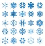 Snowflake σύνολο Στοκ εικόνα με δικαίωμα ελεύθερης χρήσης