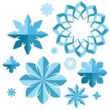Snowflake Σύνολο Στοκ Εικόνες