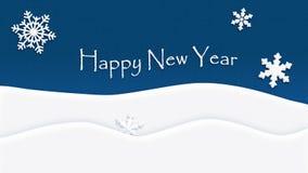 Snowflake σύστασης υποβάθρου καλής χρονιάς ελεύθερη απεικόνιση δικαιώματος