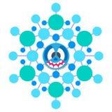 Snowflake τρελλό διανυσματική απεικόνιση