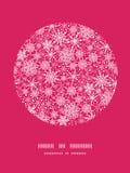 Snowflake υπόβαθρο σχεδίων πλαισίων κύκλων σύστασης Στοκ εικόνα με δικαίωμα ελεύθερης χρήσης