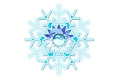 snowflake φαντασίας Στοκ φωτογραφία με δικαίωμα ελεύθερης χρήσης