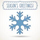 Snowflake χαιρετισμοί πλαισίων και εποχής ` s Στοκ φωτογραφία με δικαίωμα ελεύθερης χρήσης