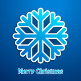 Snowflake Χαρούμενα Χριστούγεννας μπλε αφίσα Στοκ Φωτογραφίες