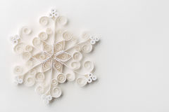 Snowflake Χριστουγέννων έγγραφο Στοκ εικόνα με δικαίωμα ελεύθερης χρήσης