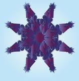 snowflake Χριστουγέννων ανασκόπησης στενό απομονωμένο επάνω λευκό Στοκ φωτογραφία με δικαίωμα ελεύθερης χρήσης